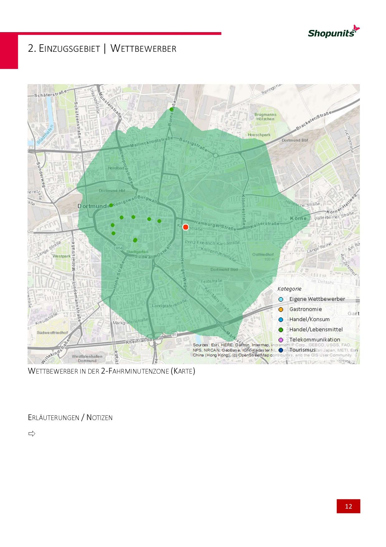 Go*Local - Online-Analysen für Markt, Standort und Wettbewerb, hier: Wettbewerber im Einzugsgebiet