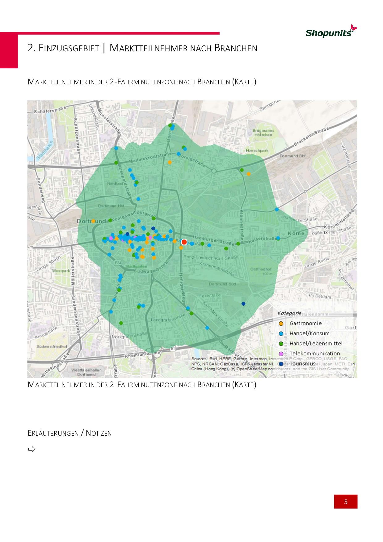 Go*Local - Online-Analysen für Markt, Standort und Wettbewerb, hier: Marktteilner nach Fahrminutenzone
