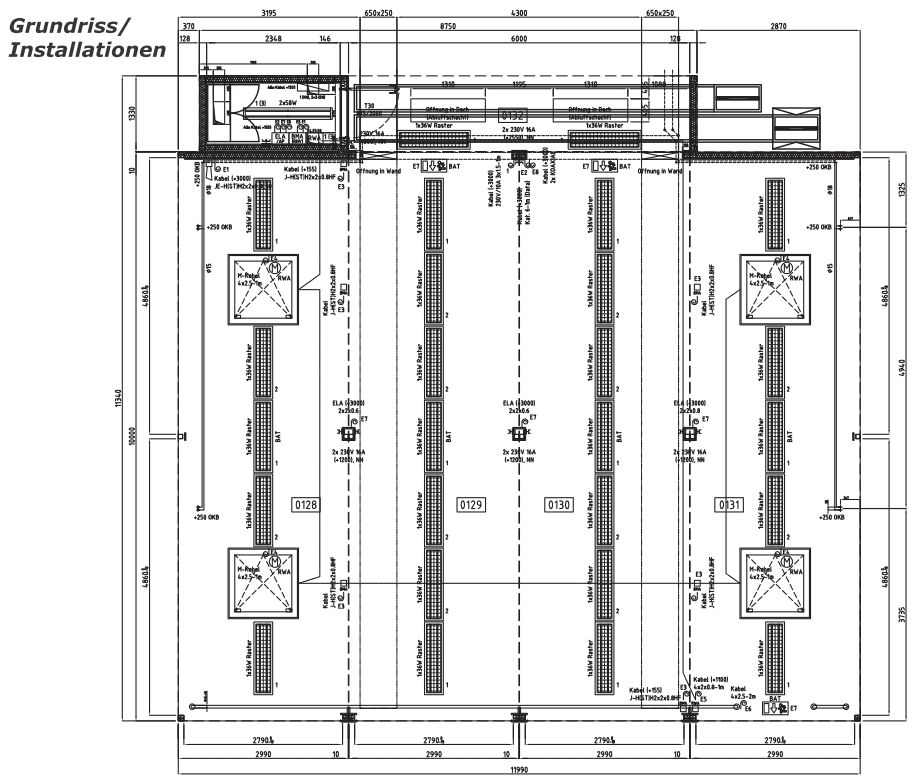 ProShop - Ansicht, Grundriss und Installationen
