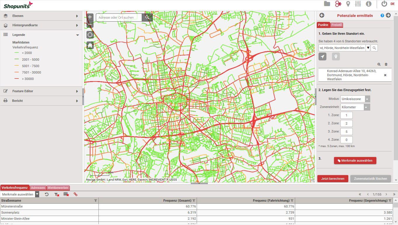 Go*Local - Online-Analysen für Markt, Standort und Wettbewerb, hier: Kfz-Frequenzen