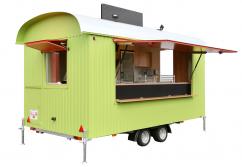 Gastro Retro-Holzwagen - Verkaufsanhänger