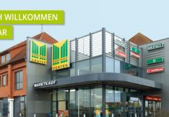 Einkaufszentrum ✩ Marktkauf-Center Wismar, Eingang