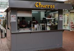 Pop-up Store, Mall-Kiosk, Indoor-Stand: Klimatisierter Imbiss-Kiosk - shopunits.de