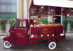 Verkaufswagen, Leichtkraftfahrzeug Piaggio-Ape