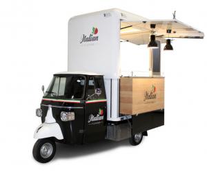 Artikel Leichtkraftfahrzeug, Piaggio Ape als Verkaufsfahrzeug