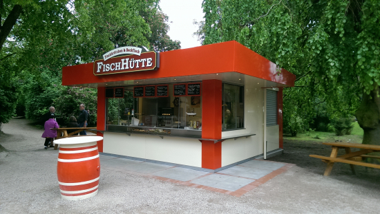 Verkaufsstand, Verkaufskiosk: Pavillon Fischhütte - shopunits.de