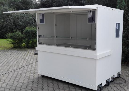 Verkaufsstand, Verkaufskiosk: mobiler teilbarer Mini-Kiosk - shopunits.de