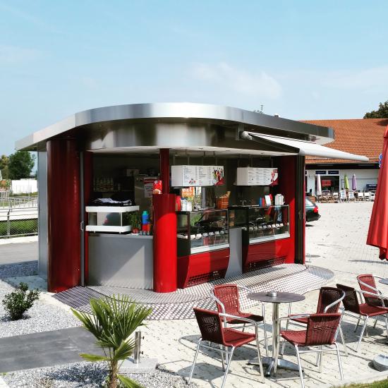 Verkaufsstand, Verkaufskiosk: Verkaufspavillon Eisfieber - shopunits.de