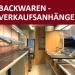 Backwaren Verkaufsanhänger, absenkbar (inkl. Inventar)